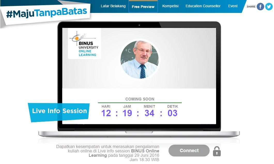 Binus, Online Class, E-Learning, Belajar, Kuliah