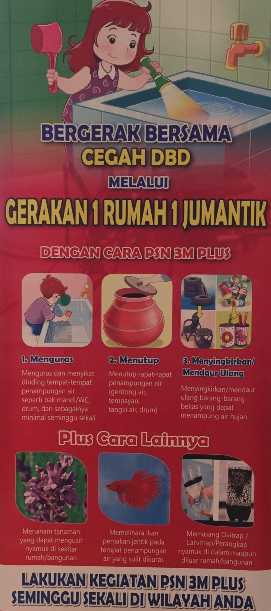 Gerakan 1 Rumah 1 Jumantik, 3M Plus, Demam Berdarah, DBD, Dengue