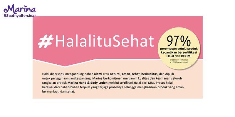 Halal Itu Sehat, Marina, Hand&Body Lotion