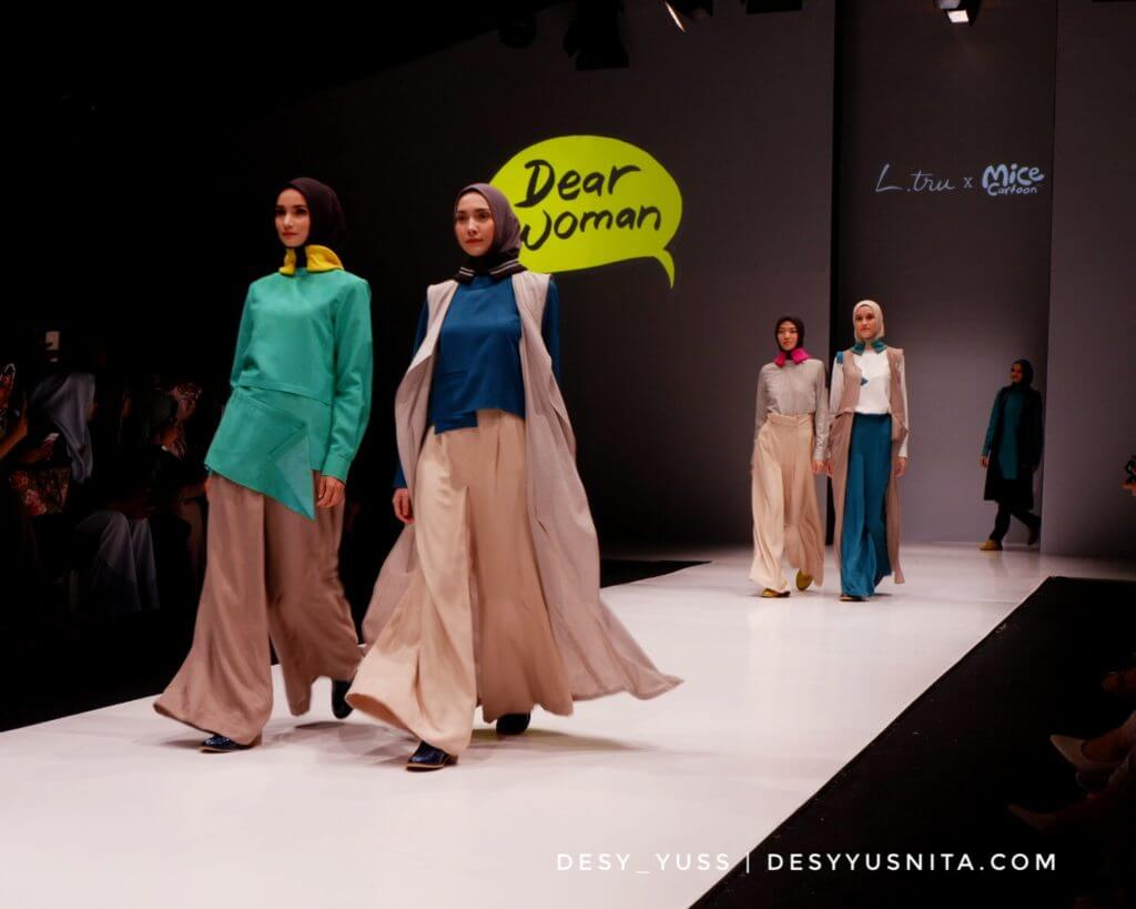 L.Tru, Mice Cartoon, Fashion Show, Kolaborasi, JFW 2018, Jakarta Fashion Week, Women, Wanita, Busana, Trendsetter