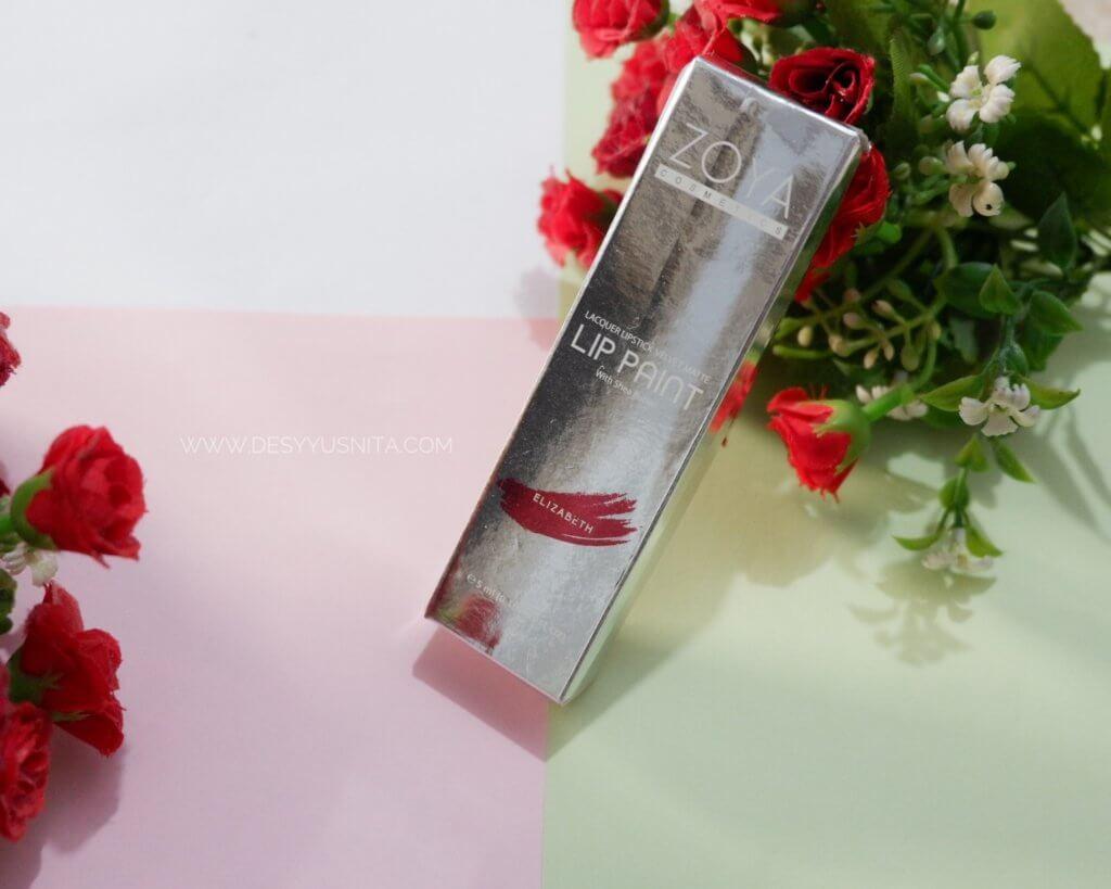 Zoya Lip Paint, Lacquer Lipstick Velvet Matte, LIpstik Zoya, Zoya Lip Paint, Lipstik Matte, Lipstik Lokal, Lip Paint Elizabeth Red Velvet,