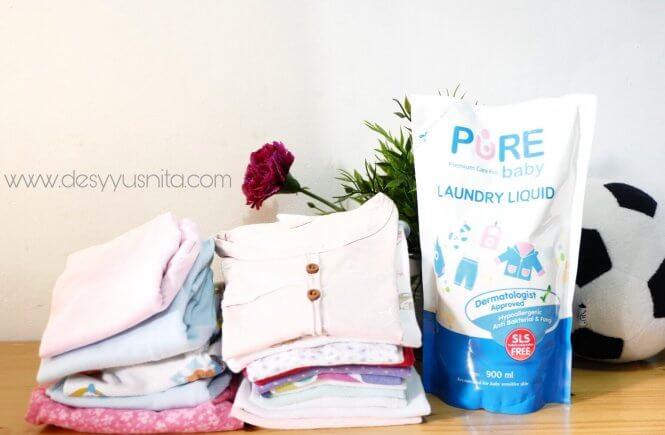 Pure Baby Laundry Liquid, Bebas SLS, Produk Bayi, Detergen Bebas SLS, SLS Free, Detergent Bayi,
