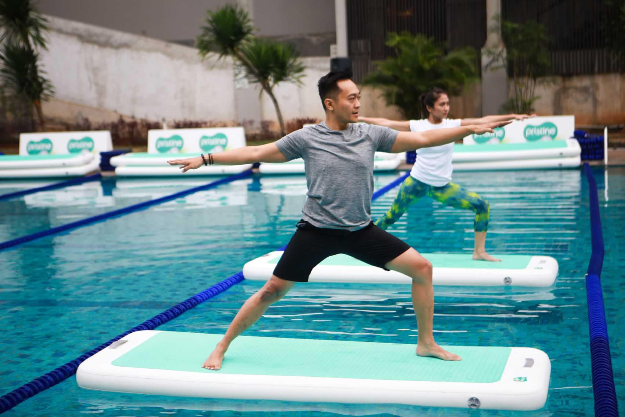 Yoga, Floating Yoga, Kesehatan, Olahraga, Pristine 8+