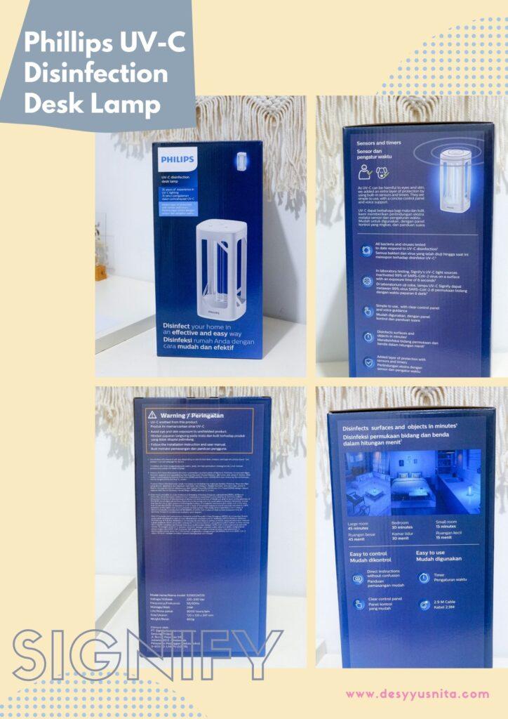Phillips UV-C Disinfection Desk Lamp