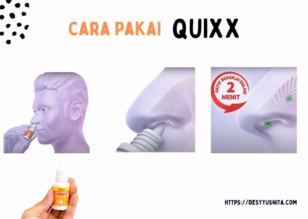 Cara Pakai QUIXX, Nasal Protection7