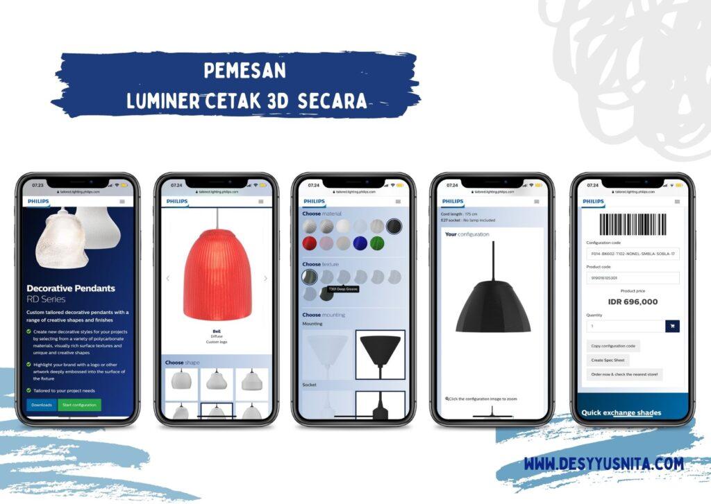 Pemesanan Luminer Cetak 3D Secara online